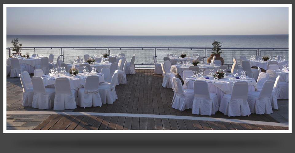 Formal dinner near the water
