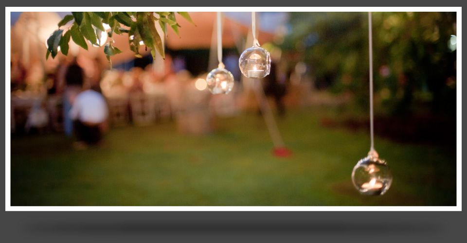 Tealights with reception in the background